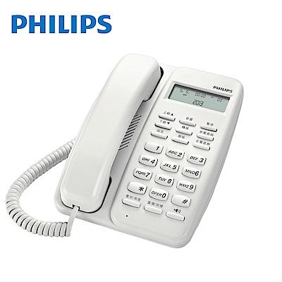 【Philips 飛利浦】來電顯示有線電話 M10 白