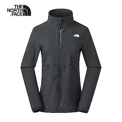 The North Face北面女款黑色防風防潑水外套|3VQNJK3