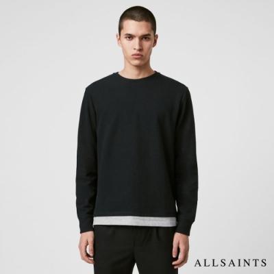 ALLSAINTS TONIC LUGE 簡單層次對比針織長袖上衣-黑