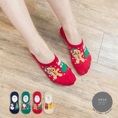 阿華有事嗎  韓國襪子 聖誕金蔥隱形襪 韓妞必備 正韓百搭純棉襪