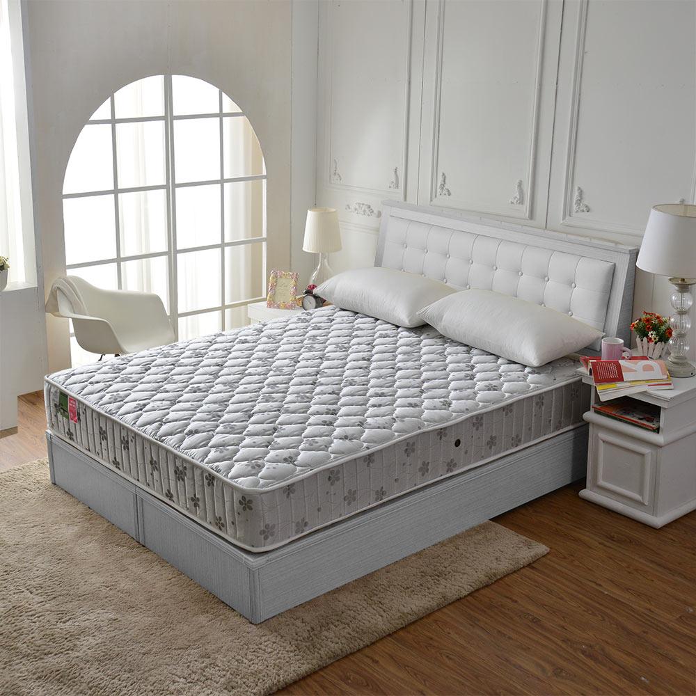 MG珍寶-乳膠抗菌竹碳除臭防潑水蜂巢獨立筒床-雙人5尺