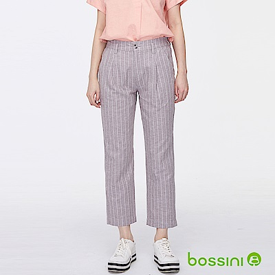 bossini女裝-棉麻長褲02可可