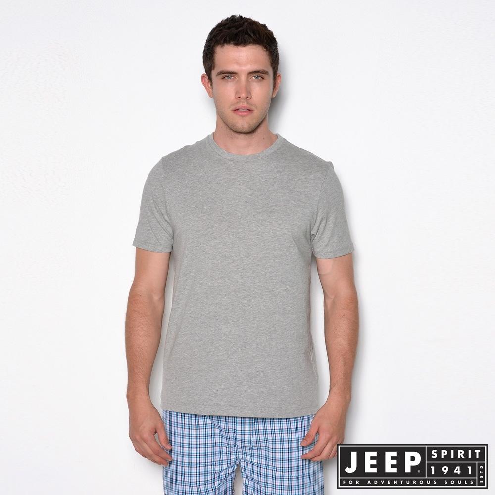 JEEP 極致舒適圓領T恤-灰色