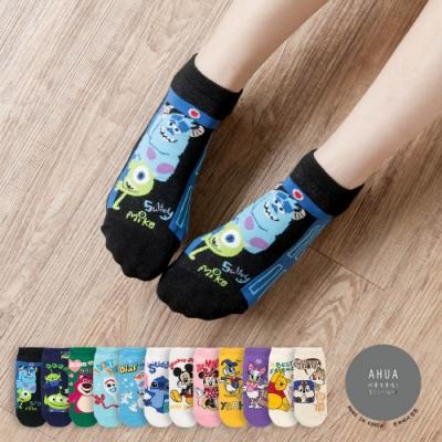 阿華有事嗎  韓國襪子 英文情境迪士尼人物短襪  韓妞必備 正韓百搭純棉襪