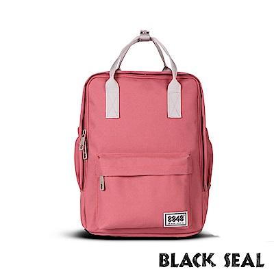 福利品 BLACK SEAL 聯名8848系列- 多隔層休閒小方型後背包-西瓜紅