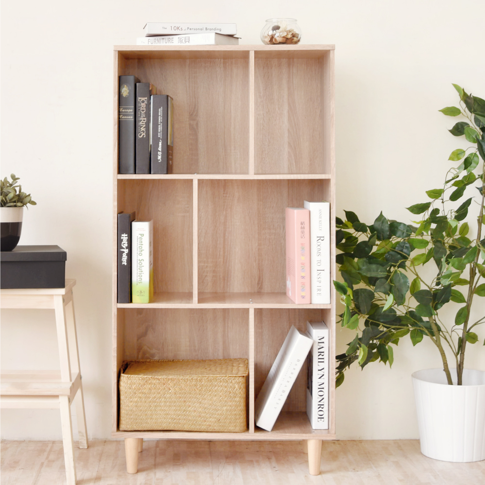 《HOPMA》DIY巧收多功能三層書櫃-寬58.5 x深25 x高115.5cm