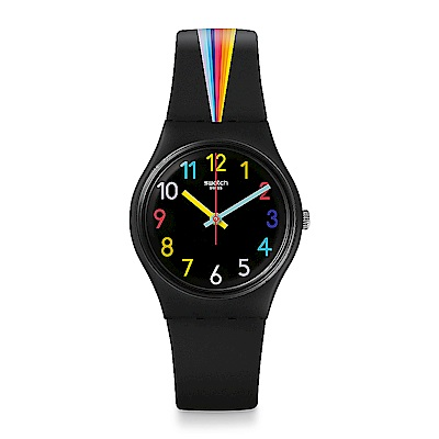Swatch THINK FUN系列 FOUNTAIN OF COLORS 彩色噴泉手錶