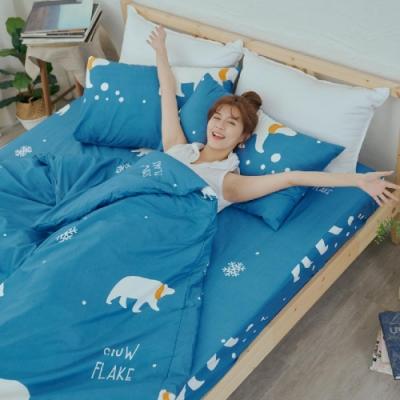 BUHO 乾爽專利機能雙人加大四件式舖棉兩用被床包組(溫室光所)