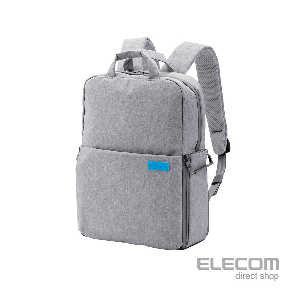 ELECOM 帆布多功能旅行後背包(L)S041-灰