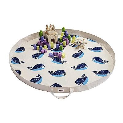 加拿大 3 Sprouts 玩具收納袋-鯨魚 收納包 遊戲墊 野餐墊