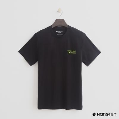 Hang Ten - 簡約雙面logo個性圖樣短T- 黑