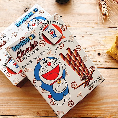 Doraemon 巧克力風味捲心酥(60g)
