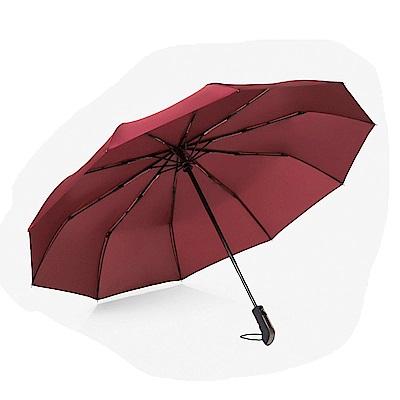 全自動十骨超大防風兩用折疊傘2入(CS-UB02)紅