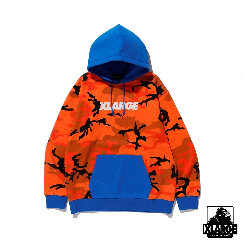 XLARGE CAMO PULLOVER HOODED SWEAT連帽上衣-橘