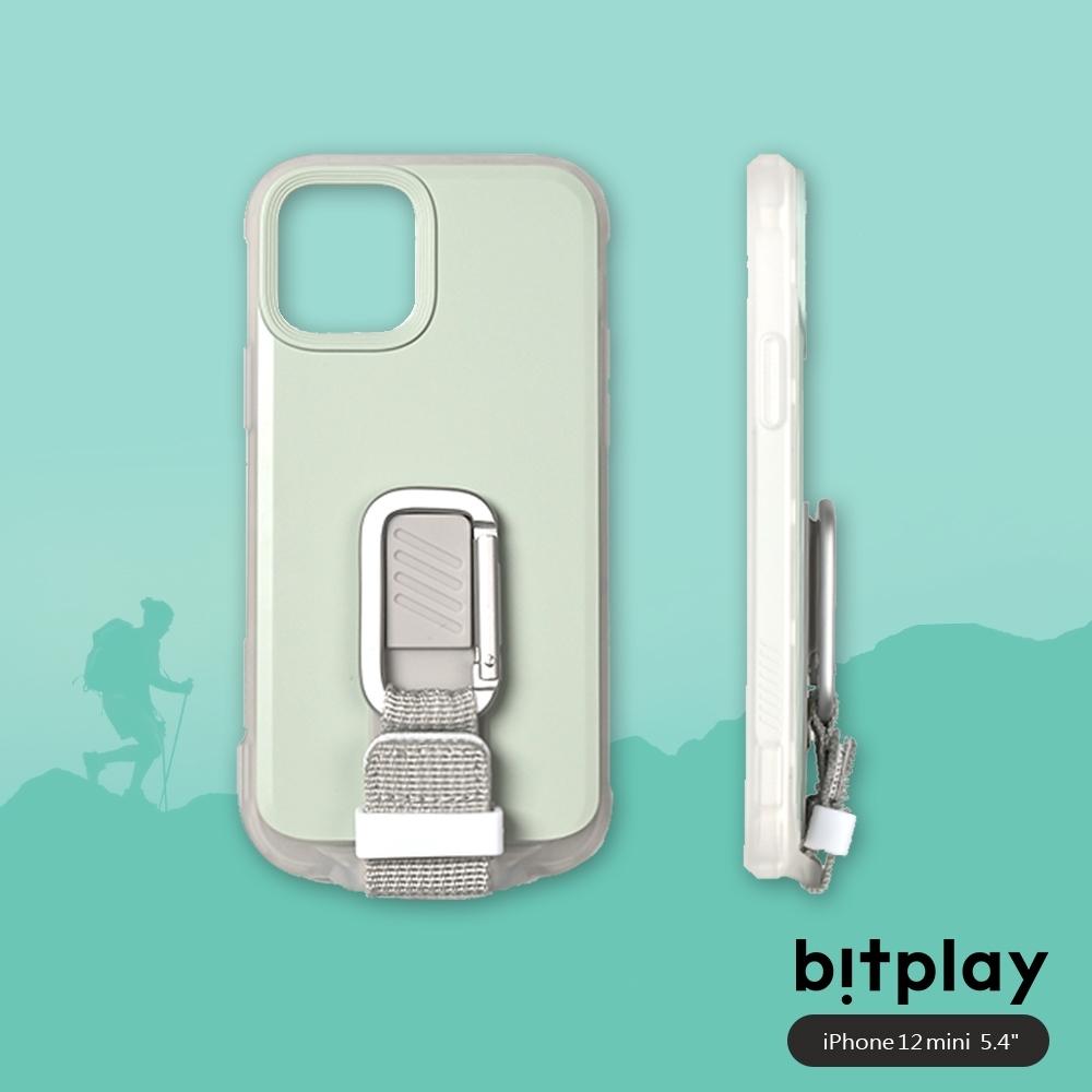bitplay Wander Case iPhone 12 Mini (5.4吋)專用 獨創支架扣環掛繩軍規防摔立扣殼▲淺綠