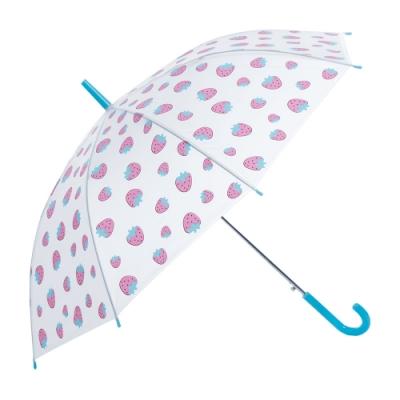 樂嫚妮 自動開直立雨傘-粉草莓