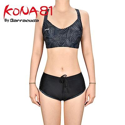 酷吶81 V領運動抗UV兩件式泳裝 KONA81 GLBT W 19 黑