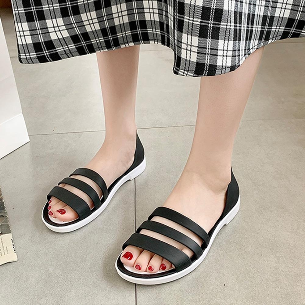 KEITH-WILL時尚鞋館-獨賣輕便生活涼鞋(涼鞋/涼跟鞋)(共3色) (黑色)