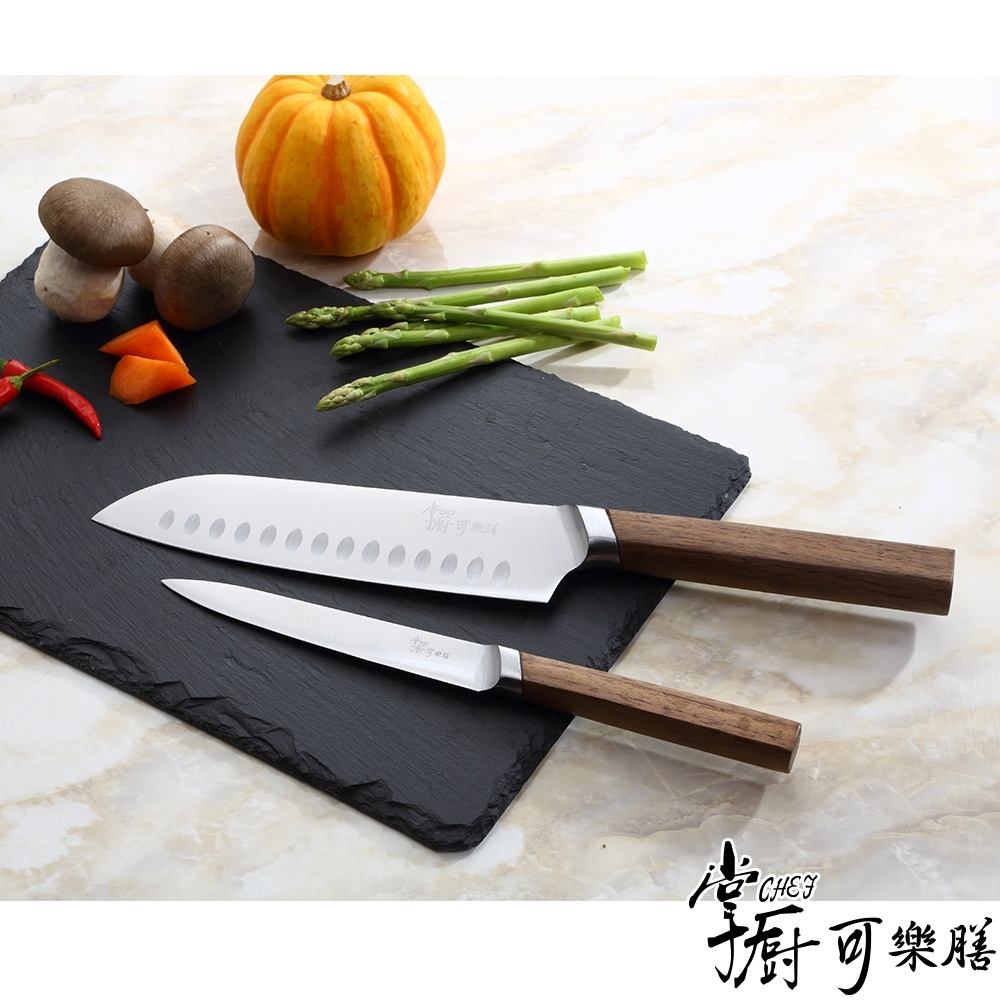 【掌廚可樂膳】日式二件式刀具組(廚師刀+萬用刀)