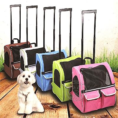 外銷歐美【dyy】美式拉桿雙袋寵物旅行箱車大號44*34*46