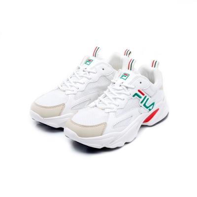 FILA BEATS TRACER 女性復古慢跑鞋-米白 5-J526U-162