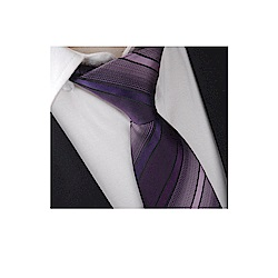 拉福   領帶8cm寬版領帶拉鍊領帶 (兒童漸層紫)