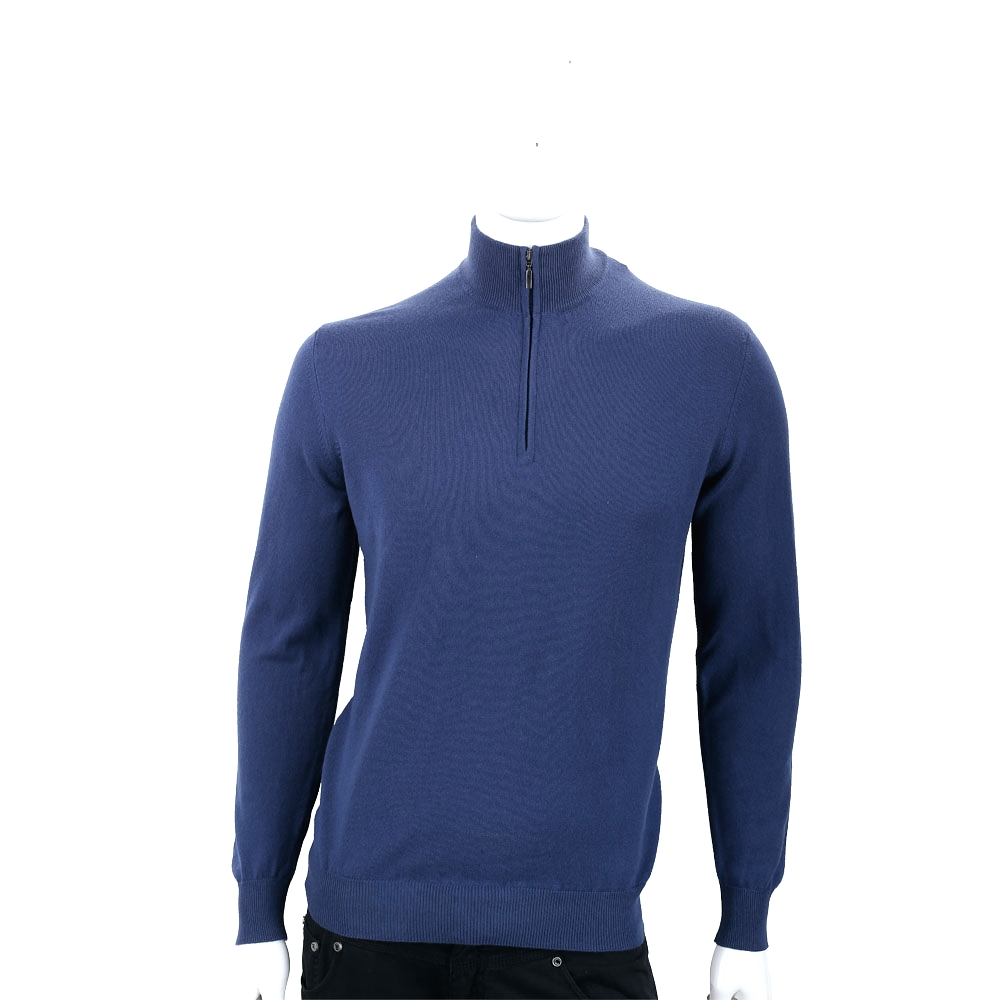 Andre Maurice 喀什米爾深藍拉鍊羊毛衫(男款)