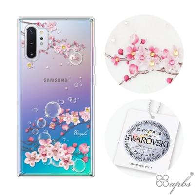 apbs Samsung Galaxy Note 10+ 施華彩鑽防震雙料手機殼-幻夢之櫻
