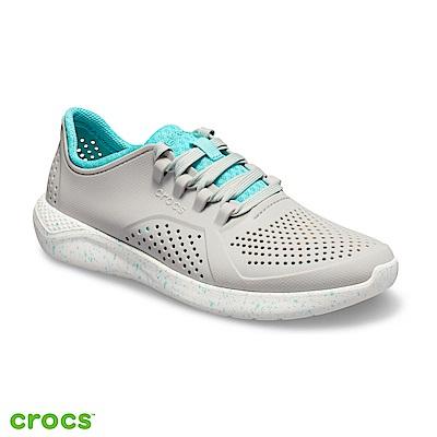 Crocs 卡駱馳 (女鞋) LiteRide潑墨繫帶鞋 206036-115