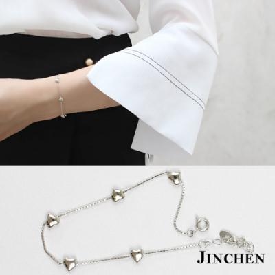 JINCHEN 純銀愛心串珠手鍊