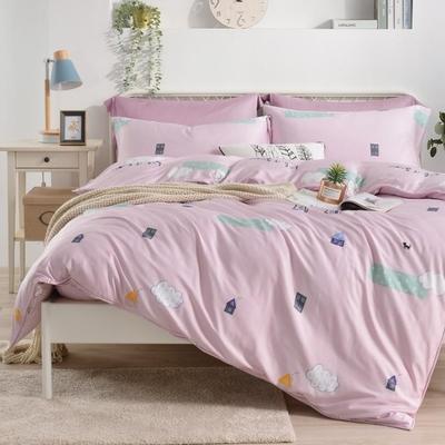 Saint Rose 童話情緣 加大100%純天絲枕套床包三件組