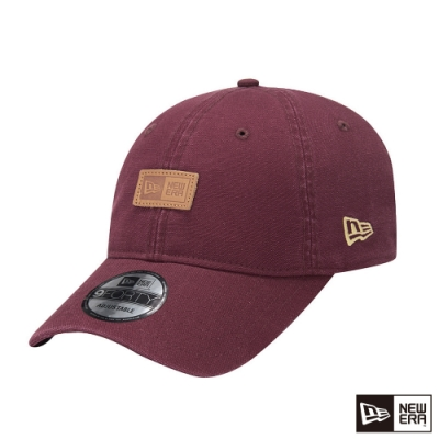 NEW ERA 9FORTY 940UNST 亞麻耐磨布料 NEW ERA 褐紅色 棒球帽
