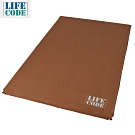 LIFECODE《豪華麂皮》雙人自動充氣睡墊/車中床-厚7cm-咖啡色