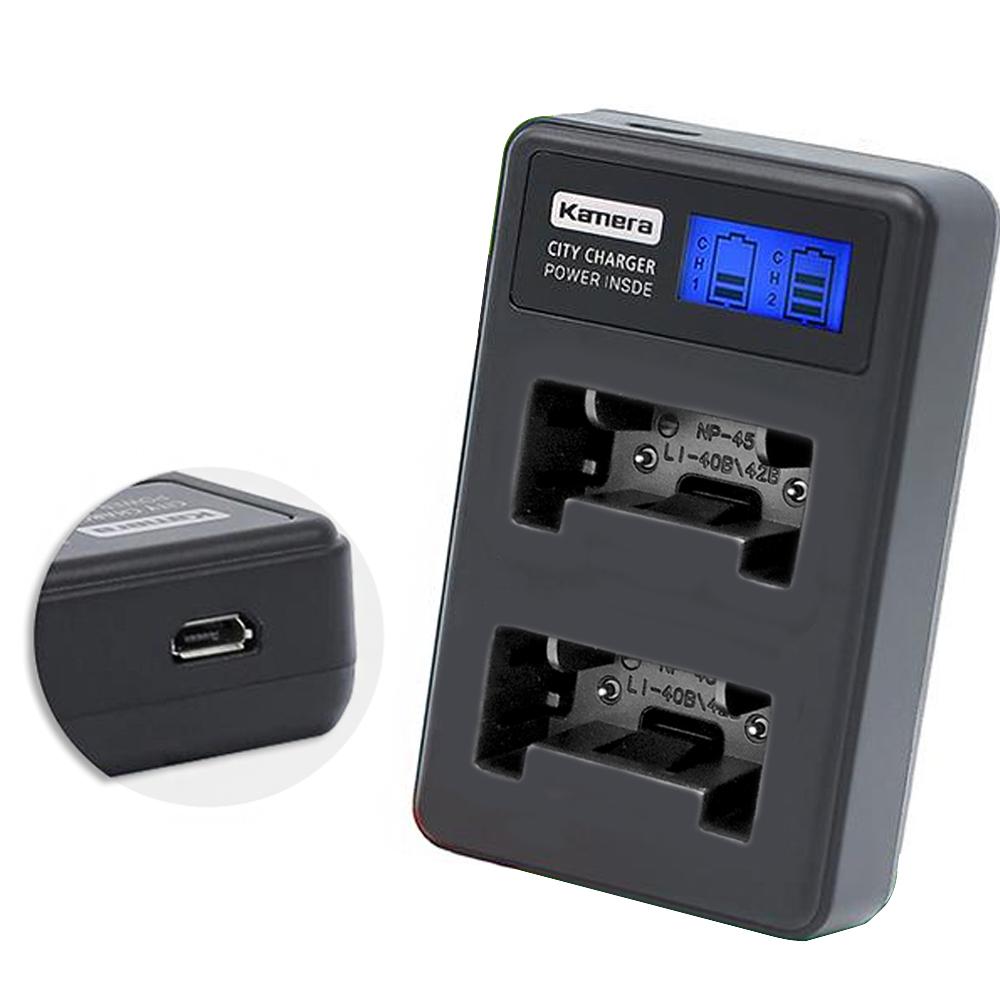 Kamera佳美能 液晶雙槽充電器for OLYMPUS Li42B / Li40B