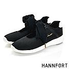 HANNFORT ICE蝴蝶輕舞網布休閒鞋-女-羽翼黑