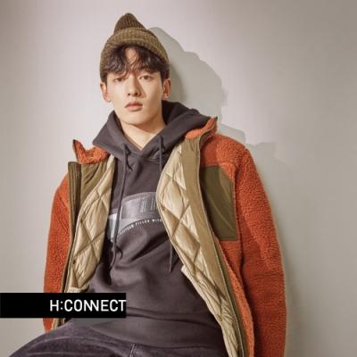 H:CONNECT 韓國品牌 男裝 - 立領造型夾克外套 - 棕