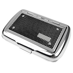 英國進口 TOBACCO CASE-馬口鐵製收納盒(煙盒/捲煙紙盒/煙草盒)-黑網格款