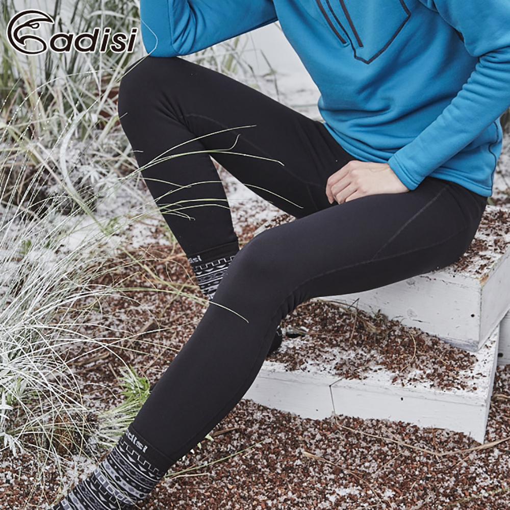 ADISI 男Power Stretch pro保暖長褲AP1821087【黑色】