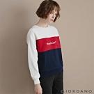 GIORDANO 女裝經典CAMPUS大學T恤 - 31 皎雪X標誌紅X海軍藍