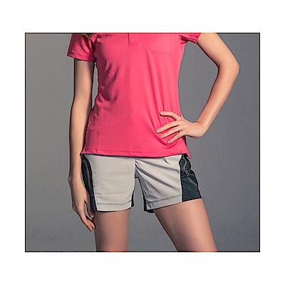 Gfun 女款拼接短褲-亮灰/炭灰(G5URPL1-gray)