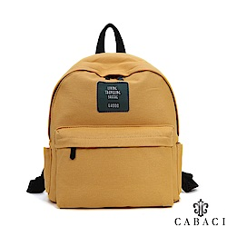 CABACI 韓版素色後背帆布包-共3色