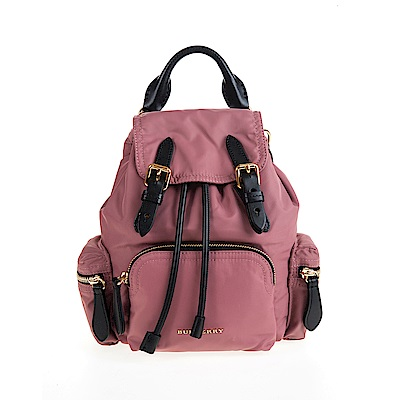 BURBERRY The Rucksack 尼龍小型斜背/後背包 (粉葵粉紅)