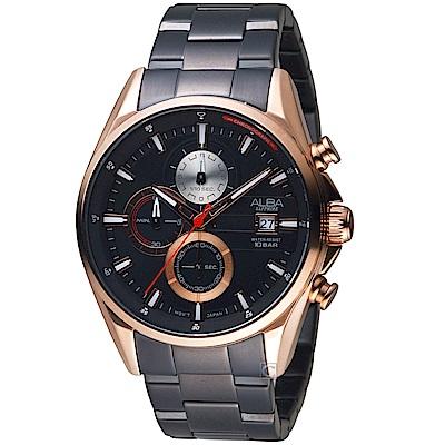 ALBA雅柏時尚潮流計時腕錶(AM3598X1 VD57-X136K)-玫瑰金