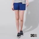 SNS 街頭感拉鍊裝飾棉質短褲(2色)
