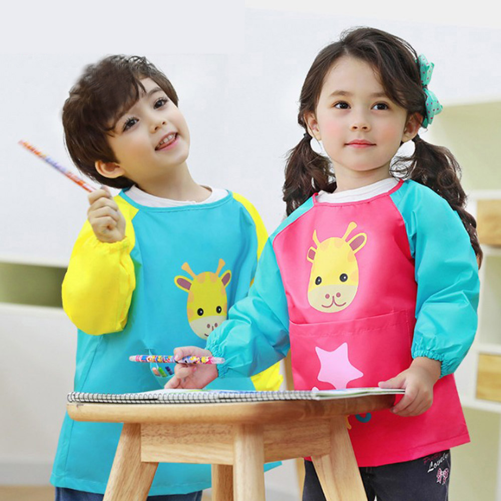 【WIDE VIEW】超可愛兒童耐髒防水透氣罩衫2入(LE250316-2入)
