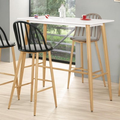 Boden-維琪4尺簡約吧台桌/洽談桌/休閒桌-加高款-120x60x107.5cm