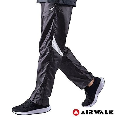 【AIRWALK】男款拼接風衣長褲-深灰