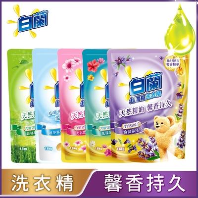 (送泰山純芥花油)白蘭 含熊寶貝馨香精華洗衣精補充包1.6kgx10件組_多款可選