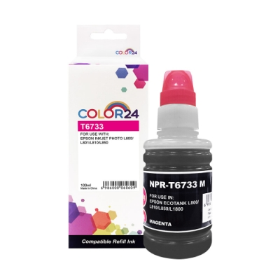 Color24 for Epson T673300/100ml 紅色相容連供墨水