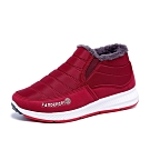 韓國KW美鞋館-舒適百搭軟皮防滑靴-紅色